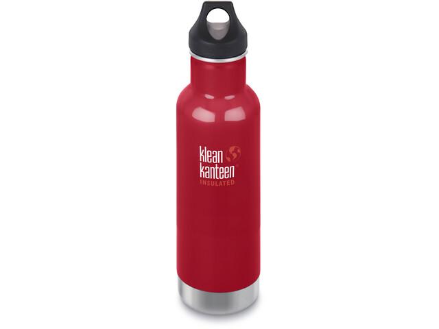 Klean Kanteen Classic Vacuum Insulated Drinkfles Loop Cap 592ml, mineral red